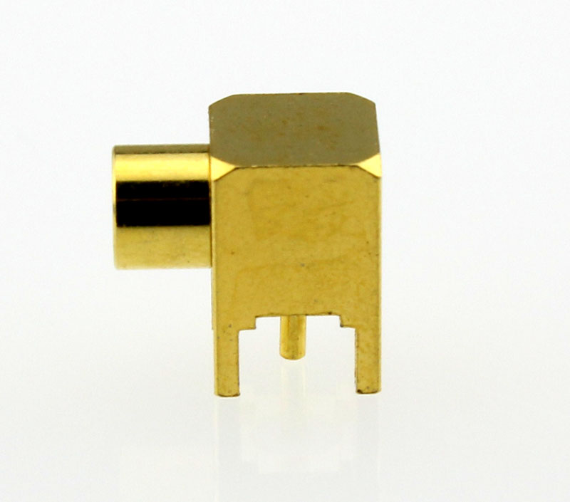 MCX Jack Female Right Angle PCB Coaxial Connector 50 ohms Side