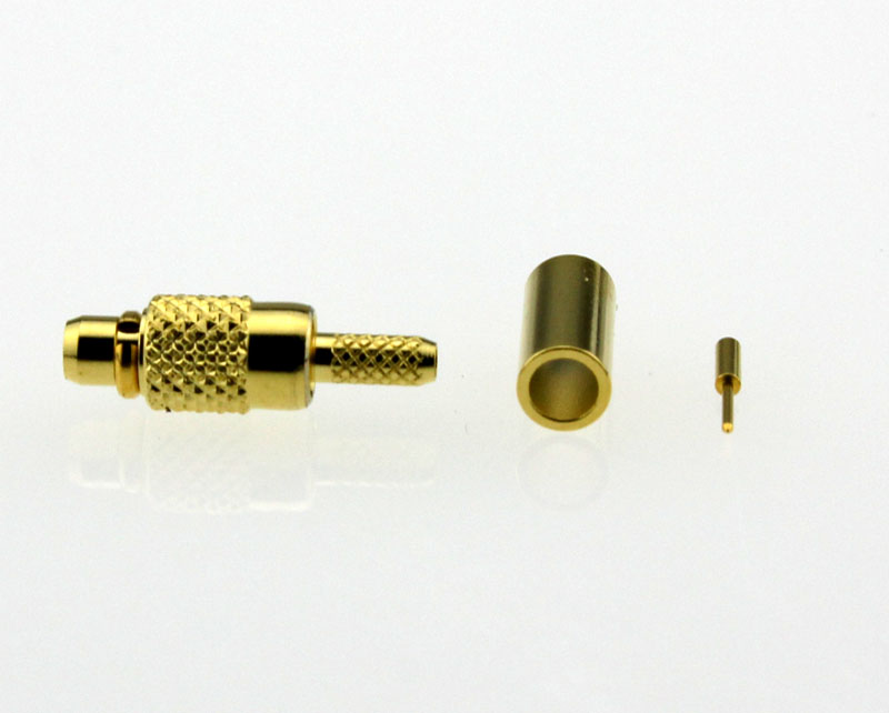 MMCX Plug Male Straight Coaxial Connector 50 ohms for RG-178U Cable Side