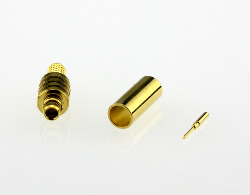 MMCX Plug Male Straight Coaxial Connector 50 ohms for RG-174 / U,316 / U,LMR-100 Cable Front
