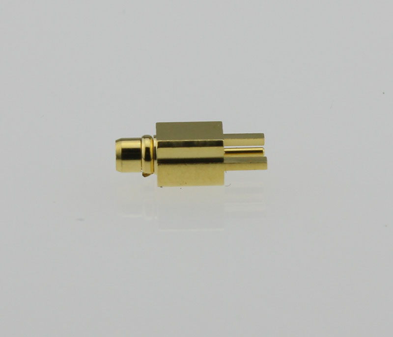 MMCX Plug Male Straight Edge Card Mount Coaxial Connector 50 ohms MMCX1251G1-GTG-50 Side