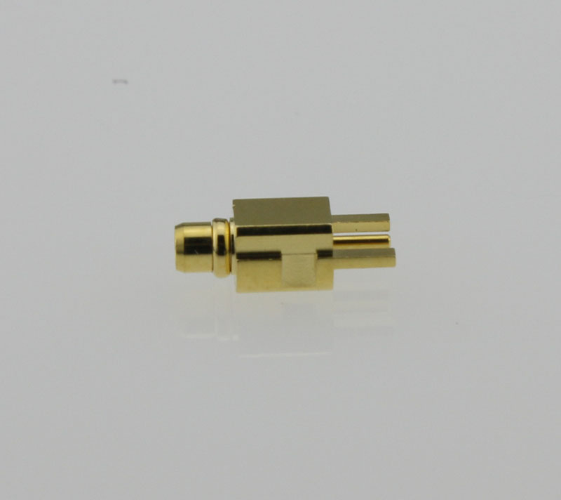 MMCX Plug Male Straight Edge Card Mount Coaxial Connector 50 ohms MMCX1251G3-GTG-50 Side