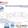 SMA Jack Female End Launch Bulkhead Coaxial Connector 50 ohms