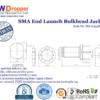 SMA Jack Female PCB End Launch Bulkhead Coaxial Connector 50 ohms