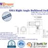 SMA Jack Female Right Angle Bulkhead Coaxial Connector 50 ohms for RG-174 / U,316 / U,LMR-100 Cable