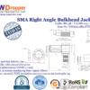 SMA Jack Female Right Angle Bulkhead Coaxial Connector 50 ohms for RG-58 / U,LMR-195 / U,LMR-200 Cable