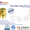SMA Jack Female Right Angle PCB Coaxial Connector 50 ohms