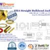 SMA Jack Female Straight Bulkhead Coaxial Connector 50 ohms for RG-58 / U,LMR-195 / U,LMR-200 Cable