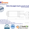 SMA Jack Female Straight End Launch Coaxial Connector 50 ohms