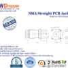 SMA Jack Female Straight PCB Coaxial Connector 50 ohms