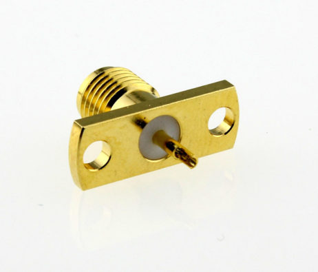 SMA Jack Female Straight Panel Receptacle Coaxial Connector 50 ohms SMA6551G1 GTG 50 Back
