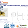 SMA Jack Female Straight Panel Receptacle Coaxial Connector 50 ohms