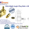 SMA Plug Male Right Angle Coaxial Connector 50 ohms For 178U Cable