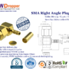 SMA Plug Male Right Angle Coaxial Connector 50 ohms For RG-174 / U,316 / U,LMR-100 Cable