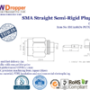 "SMA Plug Male Straight Semi Rigid Coaxial Connector 50 ohms for .141"" Cable"