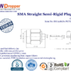 "SMA Plug Male Straight Semi Rigid Coaxial Connector 50 ohms for .085"" Cable"